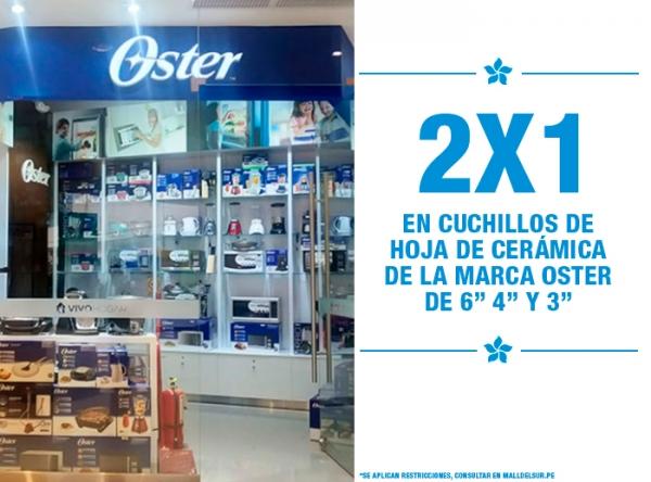 2 X 1 EN CUCHILLOS DE HOJA DE CERÁMICA Vivo Hogar - Oster - Mall del Sur
