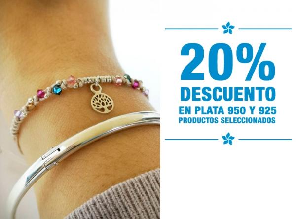 20% DCTO EN PLATA 950 Y 925 ARTEMISA - Mall del Sur