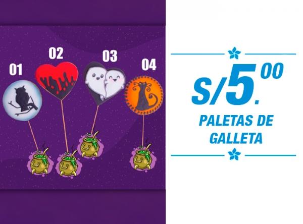 PALETAS DE GALLETA A SOLO S/5.00 Wilton's - Mall del Sur
