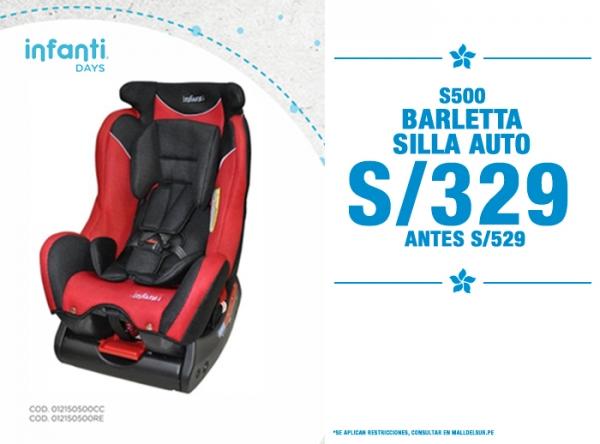 SILLA AUTO BARLETTA A S/329. Baby Infanti - Mall del Sur