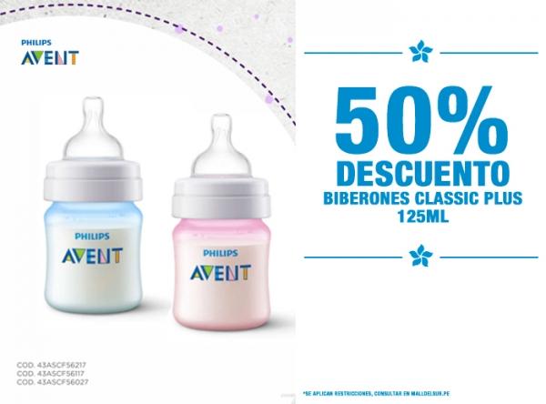 50% DCTO BIBERONES CLASSIC PLUS 125 ML Baby Infanti - Mall del Sur