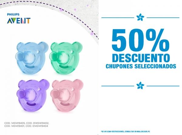 50% DCTO EN CHUPONES SELECCIONADOS Baby Infanti - Mall del Sur