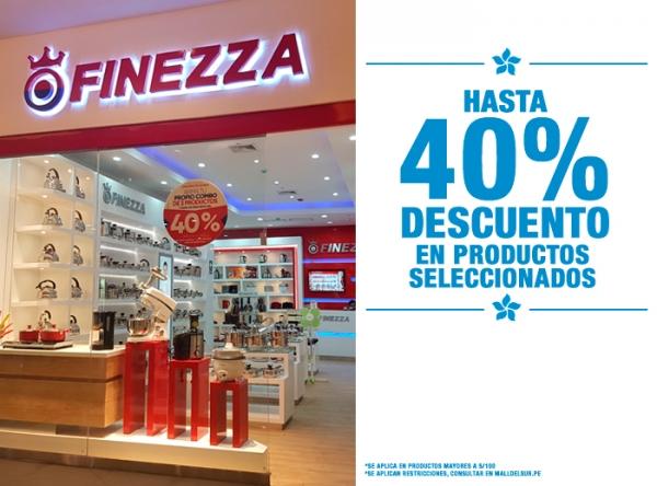 HASTA 40% DCTO EN PRODUCTOS SELECCIONADOS Finezza - Mall del Sur