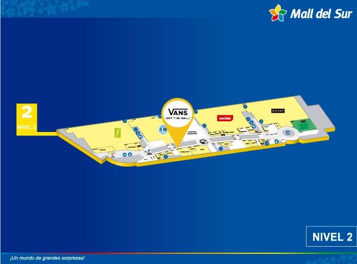 VANS  - Mapa de Ubicación - Mall del Sur