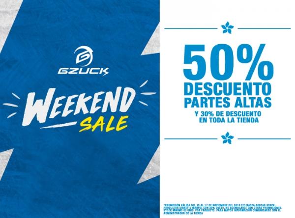 50% DCTO PARTES ALTAS Y 30% DCTO EN TODA LA TIENDA GZuck - Mall del Sur