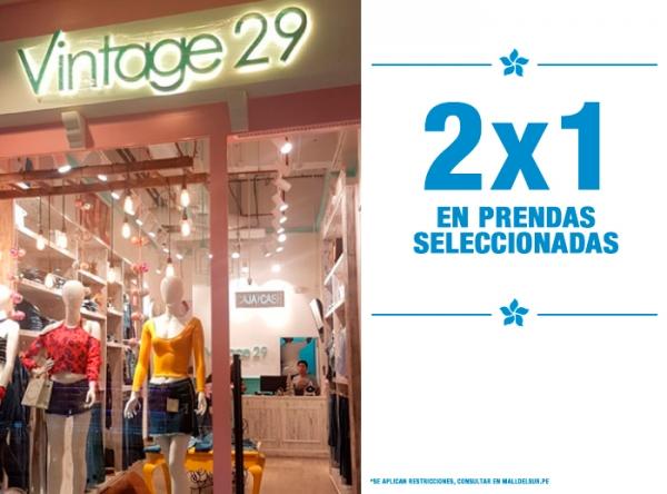 2 X 1 EN PRENDAS SELECCIONADAS  VINTAGE 29 - Mall del Sur