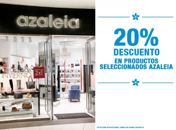 20% DCTO EN MODELOS SELECCIONADOS Azaleia - Mall del Sur