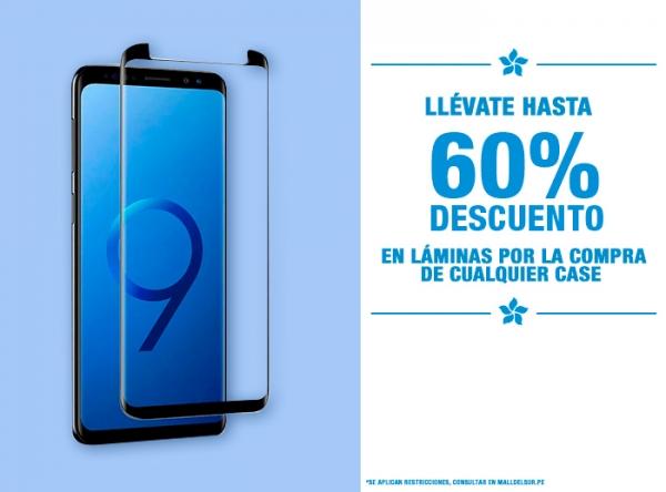 HASTA 60% DCTO EN LÁMINAS POR LA COMPRA DE CASE Be Smart - Mall del Sur
