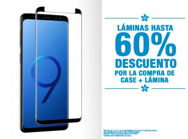 HASTA 60% DCTO EN LÁMINAS POR COMPRA DE CASE + LÁMINA Be Smart - Mall del Sur