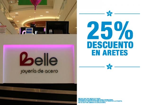 25% DCTO EN ARETES Belle Accesorios - Mall del Sur