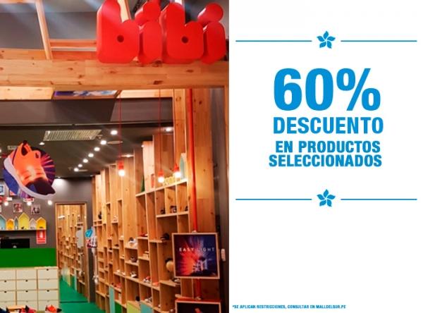 60% DCTO EN PRODUCTOS SELECCIONADOS BIBI - Mall del Sur