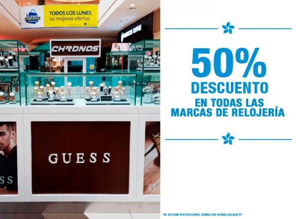 50% DCTO EN TODAS LAS MARCAS DE RELOJERÍA Chronos - Mall del Sur