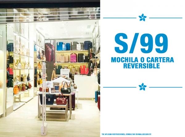 S/99 MOCHILA O CARTERA REVERSIBLE  Crepier  - Mall del Sur