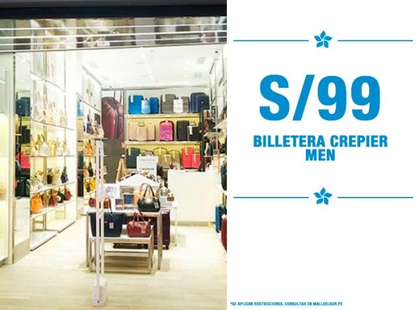 S/.99 BILLETERA CREPIER MEN Crepier  - Mall del Sur