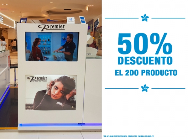 50% DE DSCTO EN EL SEGUNDO PRODUCTO Dead Sea Premier - Mall del Sur