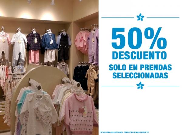 50% DSCTO EN PRENDAS SELECCIONADAS Hormiguita - Mall del Sur