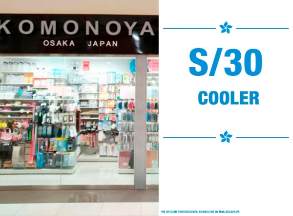 COOLER COLOR BEIGE A S/30. KOMONOYA - Mall del Sur