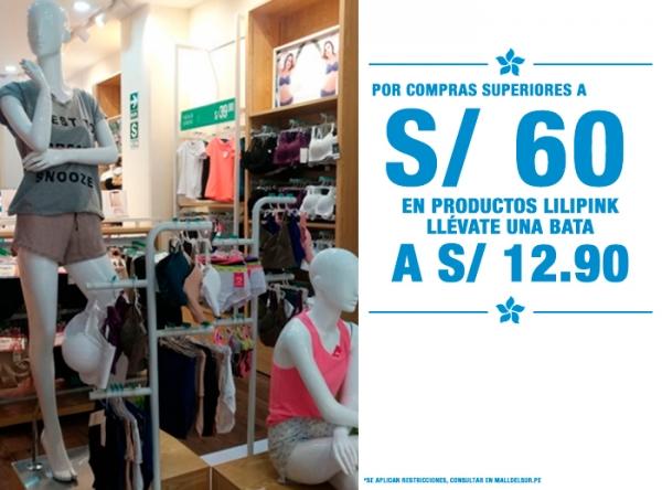 LLÉVATE UNA BATA A S/12.90 LILI PINK   - Mall del Sur