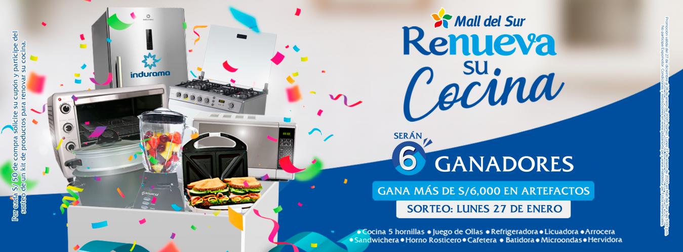 """CAMPAÑA """"RENUEVA SU COCINA"""" - Mall del Sur"""