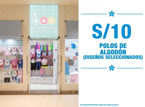 POLOS DE ALGODÓN A SOLO S/10. Mini Manitas - Mall del Sur