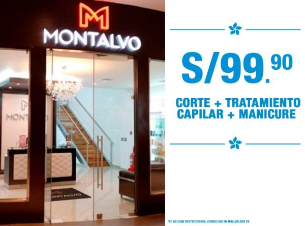 CORTE + TRATAMIENTO + MANICURE A S/99.90 MONTALVO - Mall del Sur
