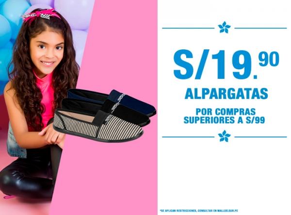 ALPARGATAS A S/19.90 MOSSA KIDS - Mall del Sur