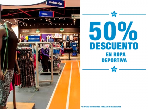50% DCTO EN ROPA DEPORTIVA MARATHON - Mall del Sur