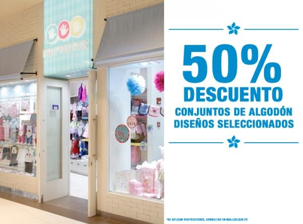 50% DCTO EN CONJUNTOS DE ALGODÓN Mini Manitas - Mall del Sur