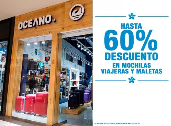HASTA 60% DCTO EN MOCHILAS VIAJERAS Y MALETAS Oceano - Mall del Sur