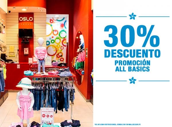 30% DCTO ALL BASICS Oslo - Mall del Sur