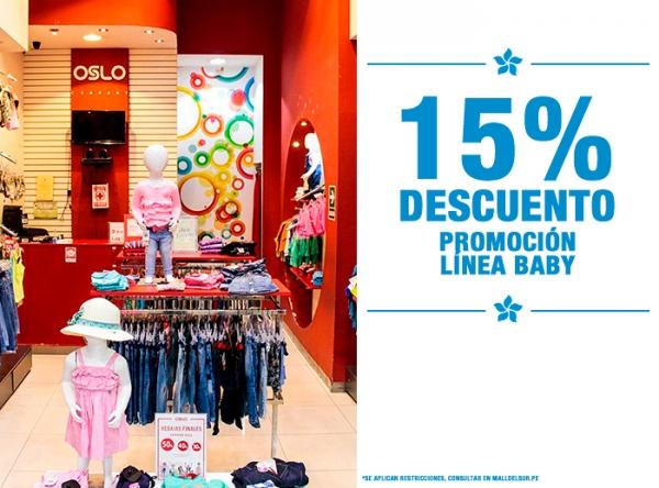 15% DCTO EN LÍNEA BABY Oslo - Mall del Sur