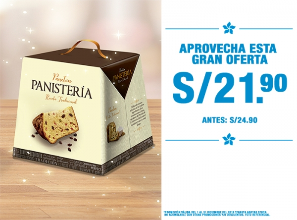 PANETÓN PANISTERIA A S/21.90 PANISTERIA - Mall del Sur