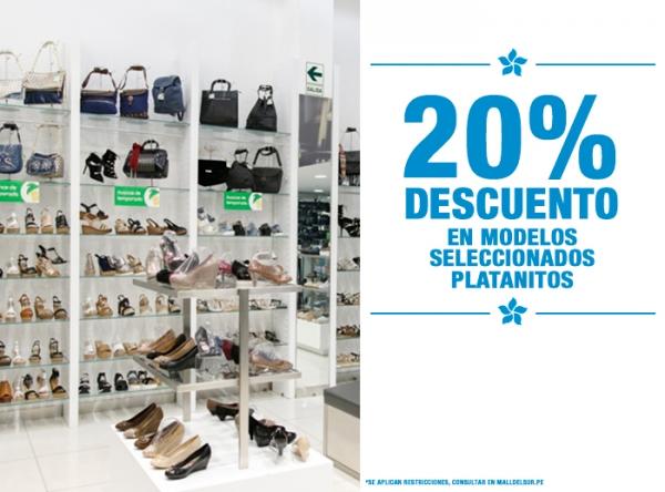20% DCTO EN MODELOS SELECCIONADOS Platanitos - Mall del Sur