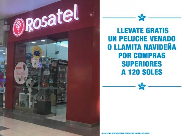 LLÉVATE GRATIS UN PELUCHE VENADO O LLAMITA NAVIDEÑA POR COMPRAS DE S/120. Rosatel - Mall del Sur