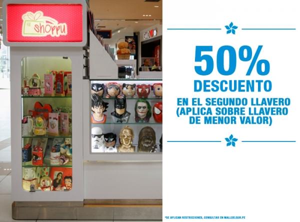 50% DCTO EN EL 2DO LLAVERO Shoppu - Mall del Sur