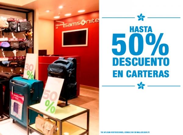 HASTA 50% DCTO EN CARTERAS SAMSONITE - Mall del Sur