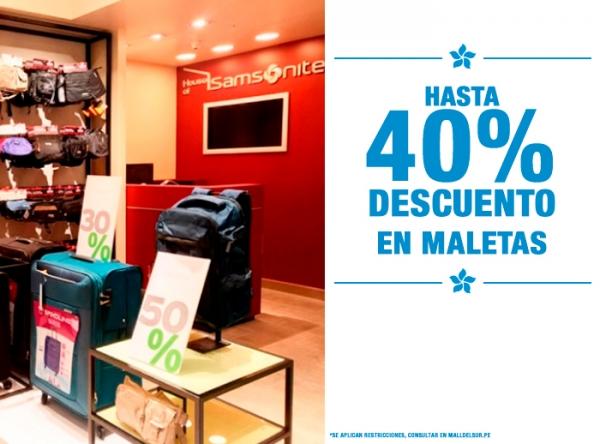 HASTA 40% DCTO EN MALETAS SAMSONITE - Mall del Sur
