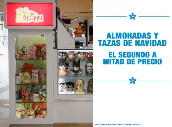 ALMOHADAS Y TAZAS NAVIDEÑAS EL 2DO A MITAD DE PRECIO Shoppu - Mall del Sur