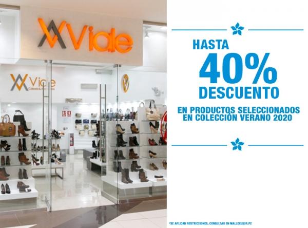 HASTA 40% DCTO EN PRODUCTOS SELECCIONADOS Viale - Mall del Sur