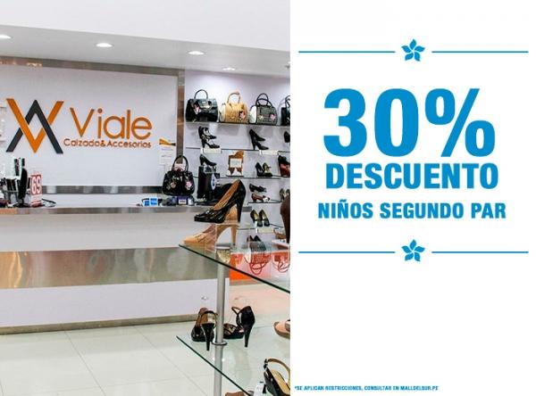 30% DCTO EN EL 2DO PAR DE NIÑOS Viale - Mall del Sur