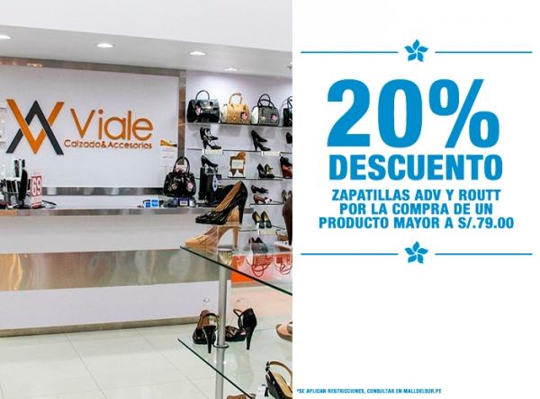 20% DCTO ZAPATILLAS ADV Y ROUTT Viale - Mall del Sur