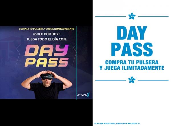 DAY PASS COMPRA TU PULSERA Y JUEGA ILIMITADAMENTE Virtual X - Mall del Sur