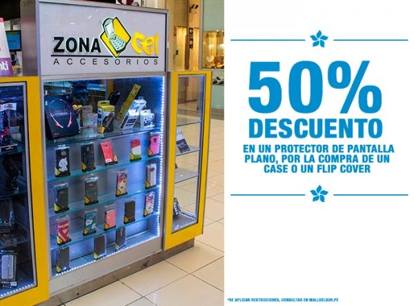 50% DCTO EN PROTECTOR DE PANTALLA PLANO Zona Cel - Mall del Sur
