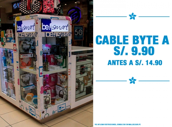 CABLE BYTE A S/9.90 Be Smart - Mall del Sur