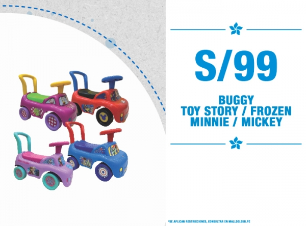 BUGGYS TOY STORY A SOLO S/99. - Plaza Norte