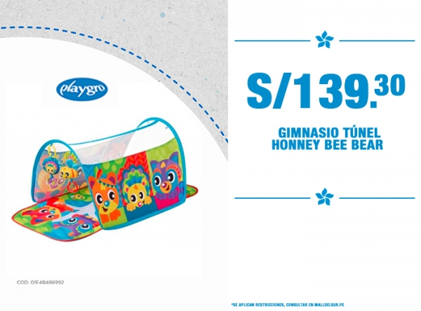 GIMNASIO TÚNEL HONNEY BEE BEAR A SOLO S/139.30 Baby Infanti - Mall del Sur