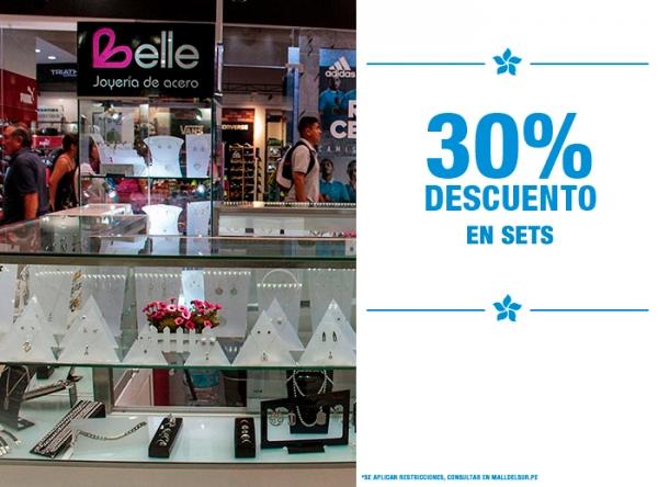 30% DCTO EN SETS - Belle Accesorios - Mall del Sur