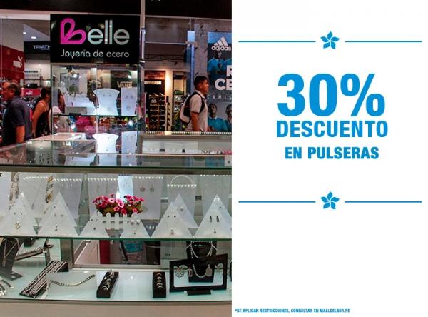 30% DCTO EN PULSERAS - Belle Accesorios - Mall del Sur