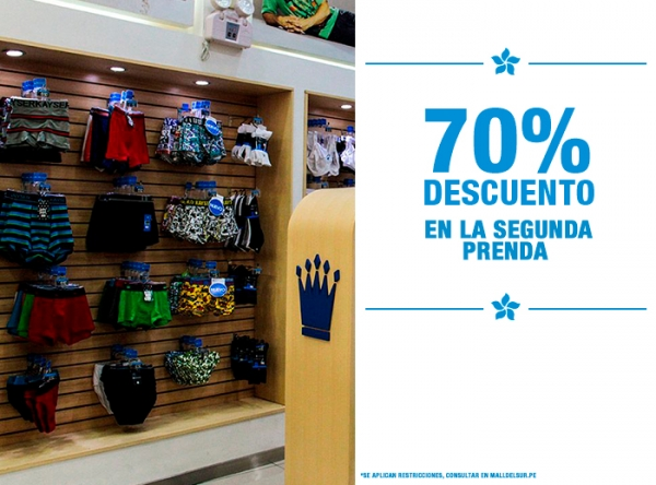 70% DCTO EN LA 2DA PRENDA - Plaza Norte