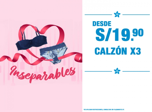 CALZÓN X3 DESDE S/19.90 LILI PINK   - Mall del Sur